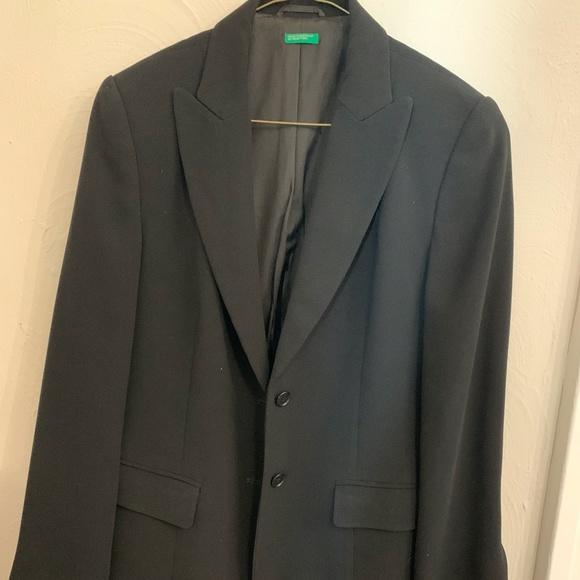 United Colors Of Benetton Jackets & Blazers - Black Benetton Blazer